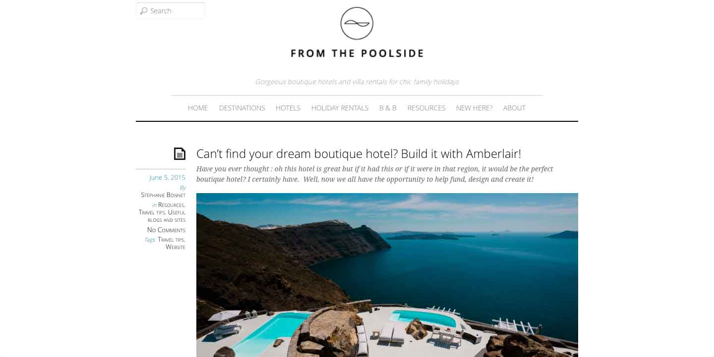 Amberlair Crowdsourced Crowdfunded Boutique Hotel - Stephanie Bonnet From the poolside blog