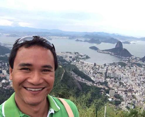 Keith Jenkins enjoying the views in Rio de Janeiro.