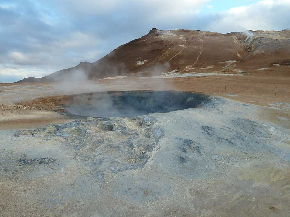 Hot Springs close to Reykjavik in Iceland