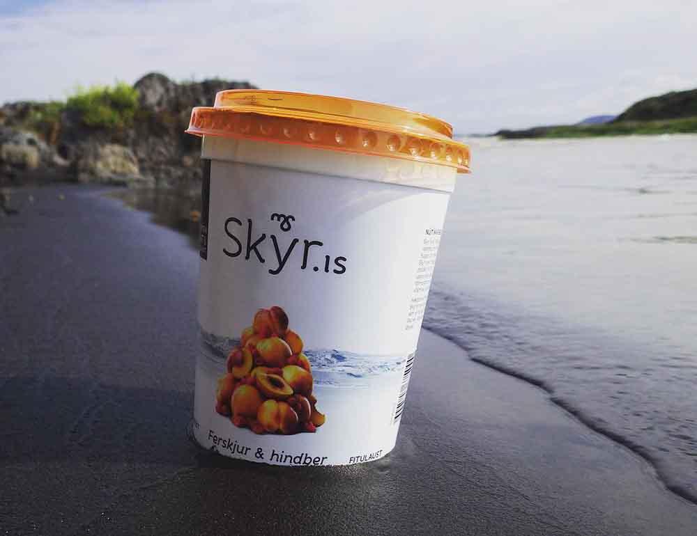 Famous Icelandic Skyr jogurt in Iceland