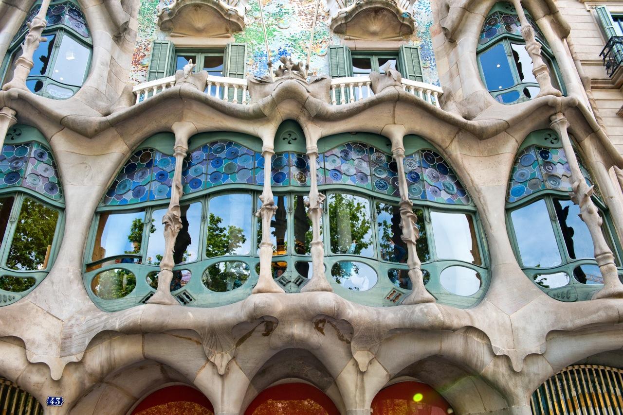 Casa Battlo in Barcelona (house of bones) by Gaudi.