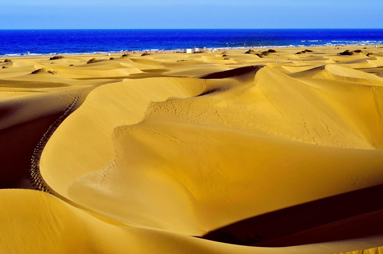 Dunes of Maspalomas, in Gran Canaria, Canary Islands, Spain