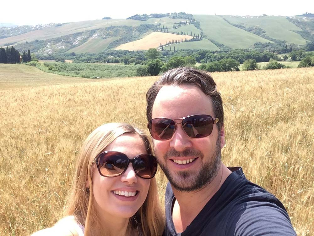 Marcus and Kristin in Umbria