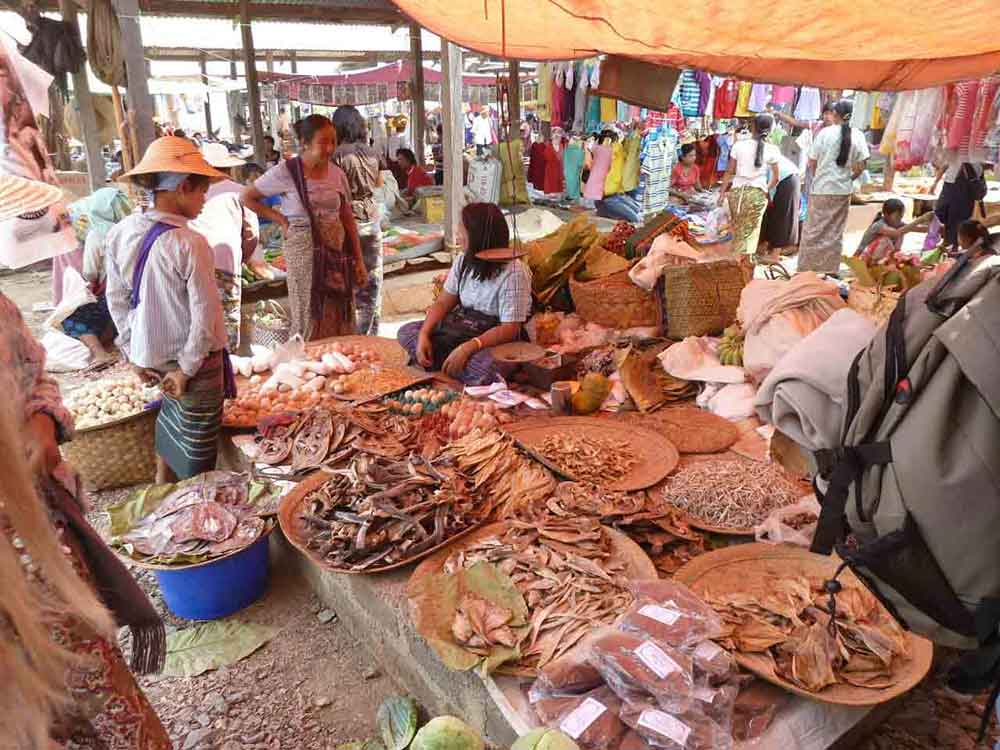 Traditional Burmese market