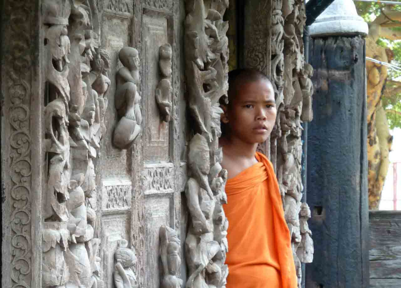 Burmese Monk in Mandalay